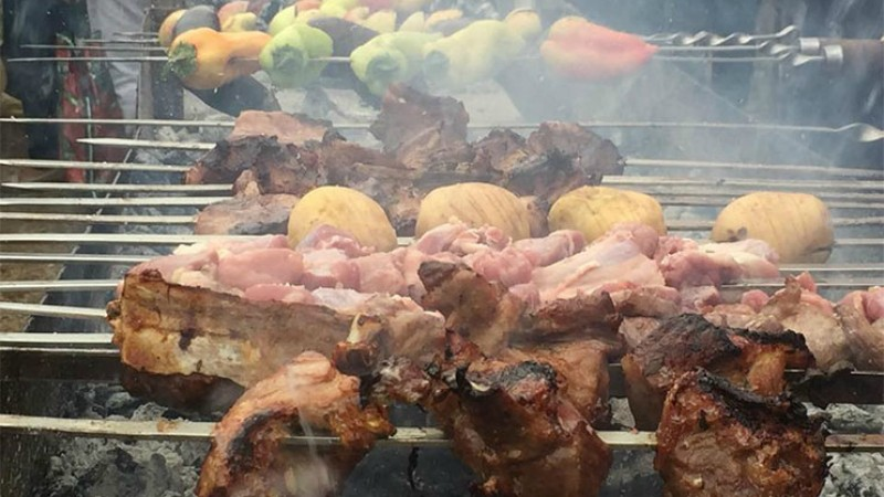 The traditional barbecue contest-fest was held in Akhtala