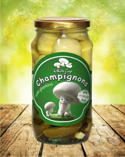 Champignon with cornichons
