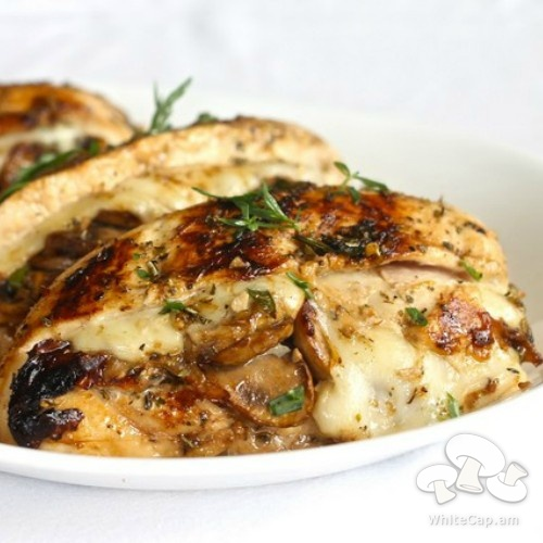 Chicken stuffed with mushrooms